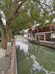 Natural canal of shanghai oldtown