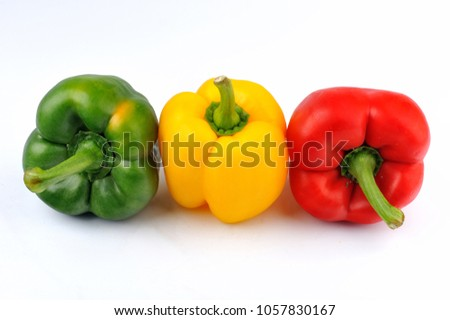 natural capsicum. group of...
