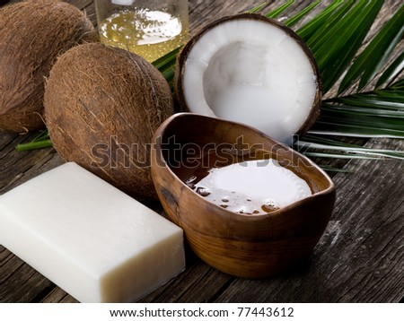 natural coconut walnut oil and soap