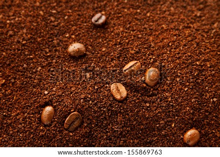Natural coffee background