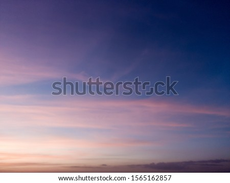 Natural colors Evening sky Shine new day for Heaven,The light from heaven from the sky is a mystery,In twilight golden atmosphere,Modern sheet structure design,
