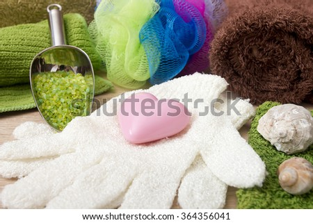 Natural cosmetics, ingredients for making soap at home.