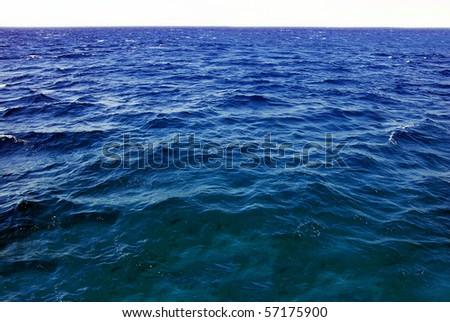 natural dark blue seawater surface
