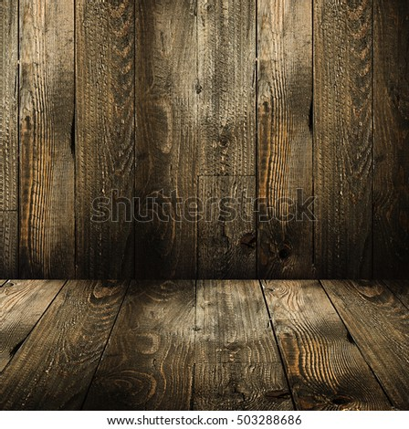 Natural Dark Wooden background. Old dirty wood tables or parquet with knots and holes and aged partculars. #503288686