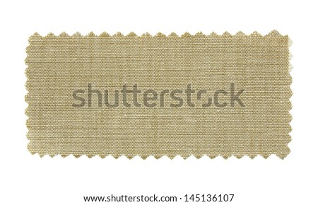 natural fabric swatch samples isolated on white background
