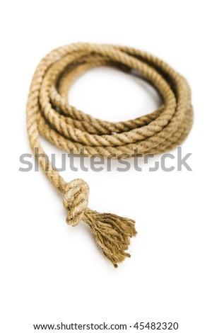 Natural fiber rope in a loop