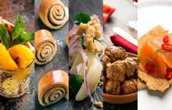 Natural food. Photo collage. Vegetables and meat