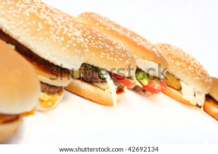Natural form foods. Fast food. - stock photo