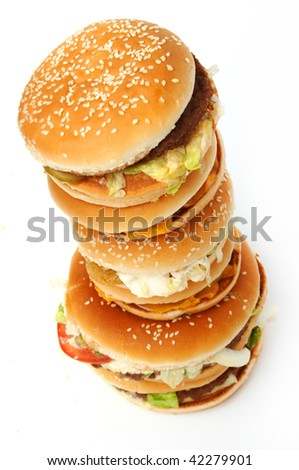 Natural form foods. Fast food. Shot in a studio. - stock photo