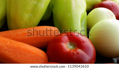 natural fresh vegetables.