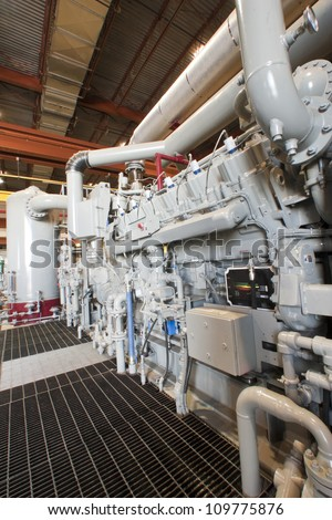 Natural Gas Compressor Station - stock photo