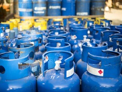 Natural gas in cylinders.