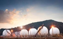 Natural gas tank in the petrochemical industry
