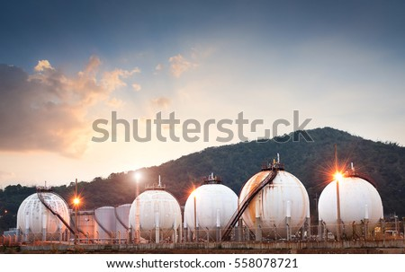 Natural gas tank in the petrochemical industry #558078721