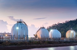 Natural gas tank in the Refinery industry