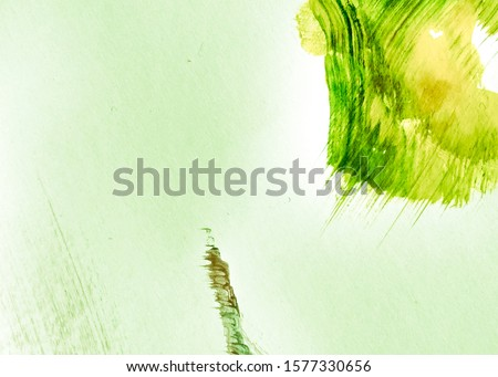 Natural Green Summer Dirty Art Background. Leafy Color Mustard Acrylic Graffiti. Spring Green Yellow Sustainable Development. Lime Green Sunny Oil Painting. Fresh Green Yellow Acrylic Painting.