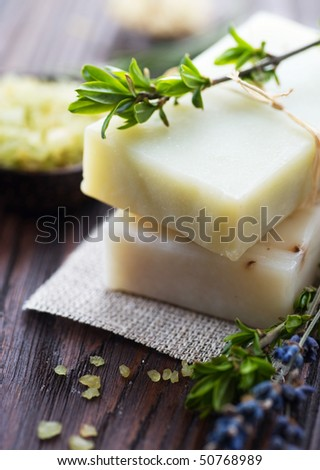 Natural Handmade Soap with herbs.Spa