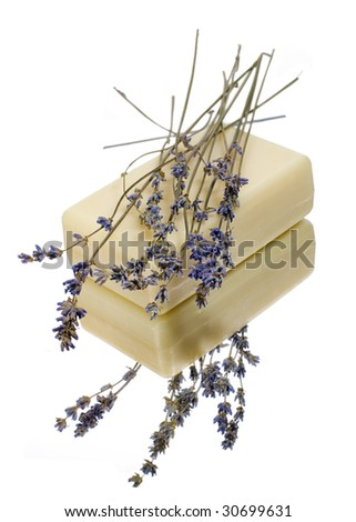 natural handmade soap with lavender