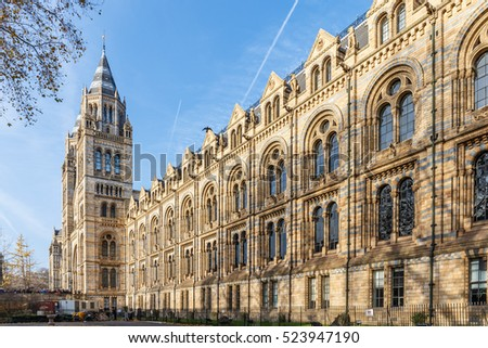 Natural History museum in winter, London, England #523947190