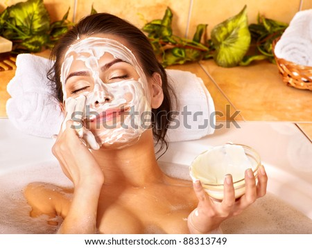 Natural homemade  facial masks at home .
