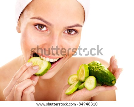 Natural homemade vegetables  facial masks . Isolated.