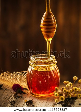 Natural Honey with stick