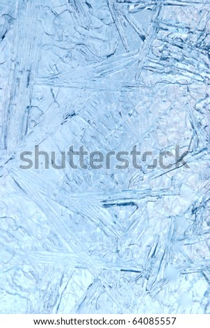 natural ice background closeup