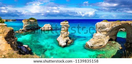 Natural landmarks and best beaches of Puglia.