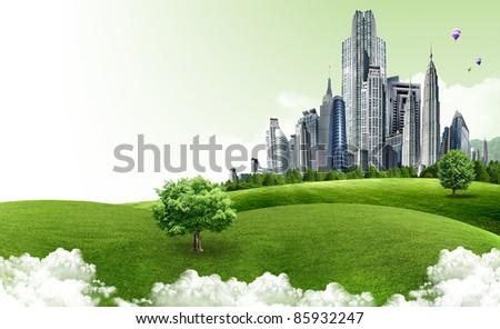 Natural landscape. ecological concept - stock photo