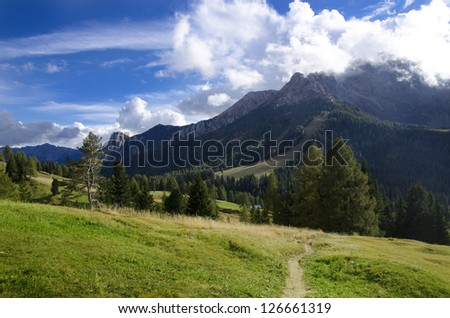 Natural landscape in the mountains
