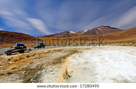 natural landscape of mountain and desert in bolivia