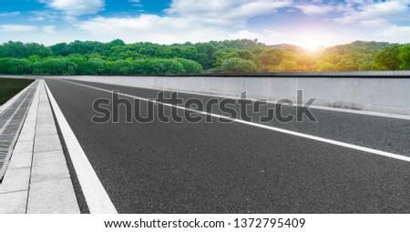 Natural Landscape of Road and Landscape Scenery #1372795409