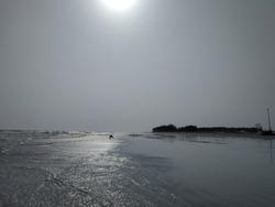 Natural landscape of Sea at Gangasagar