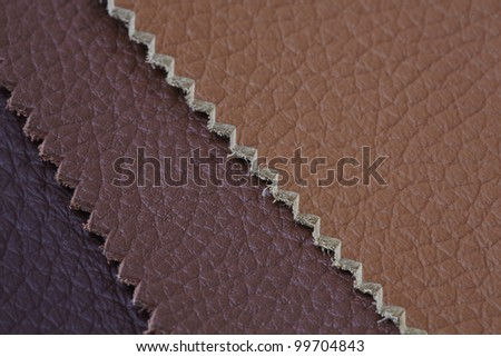 Natural leather upholstery samples