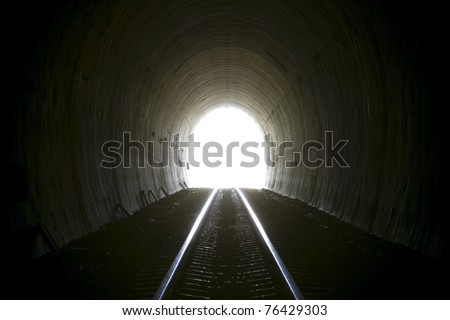 Natural light at the end of tunnel.