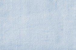Natural Light Blue Flax Fiber Linen Texture, Detailed Closeup, rustic crumpled vintage textured fabric burlap canvas pattern, horizontal