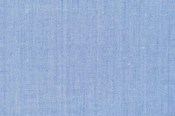Natural light pastel pale blue rustic flax fiber linen fabric swatch texture vertical pattern horizontal bright rough detailed vintage textile background macro closeup, crumpled textured burlap canvas