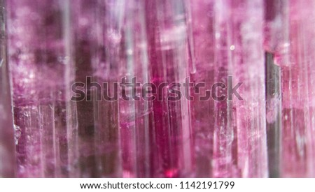 Natural mineral elbaite tourmaline natural cut closeup