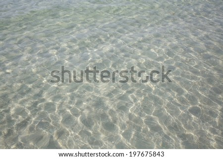 natural of clean and clear sea water