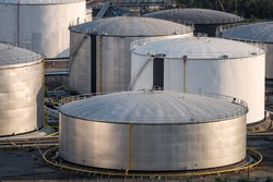 Natural Oil and Gas storage tanks and  in Petrochemical industrial plant