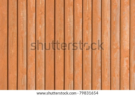 Natural old wood fence planks, wooden close board texture, grunge overlapping light reddish brown closeboard terracotta rustic background pattern