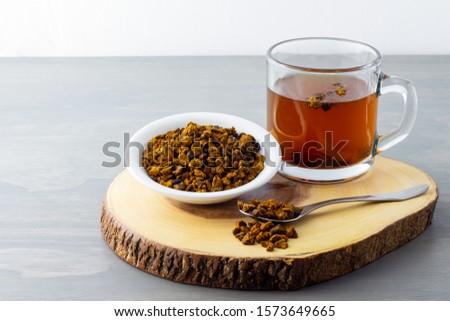 Natural, organic Chaga mushroom and chaga mushroom tea.  Сток-фото ©