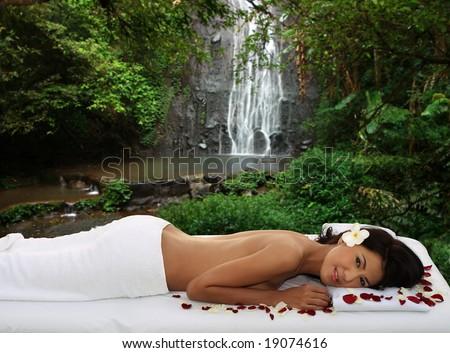 Natural outdoor massage