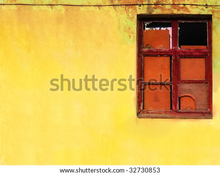 natural painted vintage window background