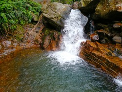 Natural pool found in Srilanka, in Yatiyanthota, Sabaragamuwa Province.