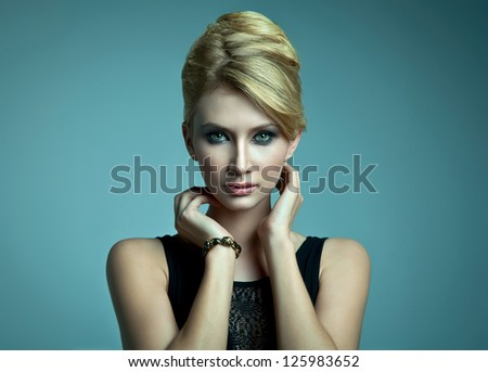 Natural portrait of beautiful blonde woman