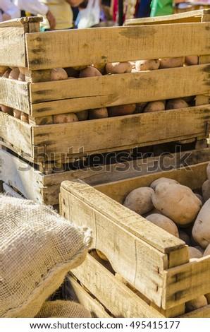 Natural potatoes #495415177