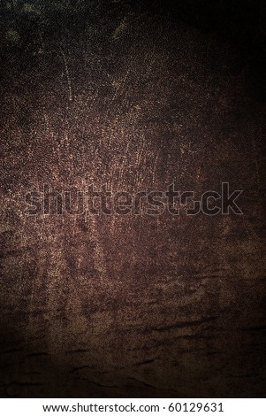 Natural qualitative brown leather texture. Close up. - stock photo