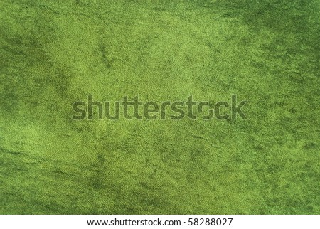 Natural qualitative green leather texture. Close up.