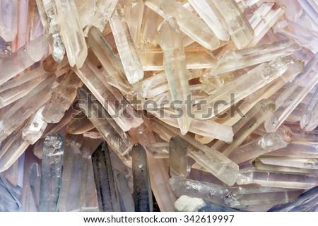 natural quartz crystals in the...